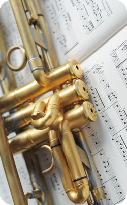 Part of a trumpet to indicate musical instruments are the modern 24th year anniversary theme