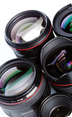 lenses from cameras to represent the 48th year anniversary theme