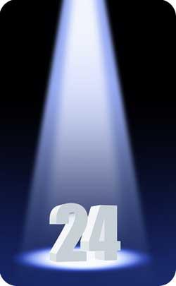 spotlight illuminating the figure 24