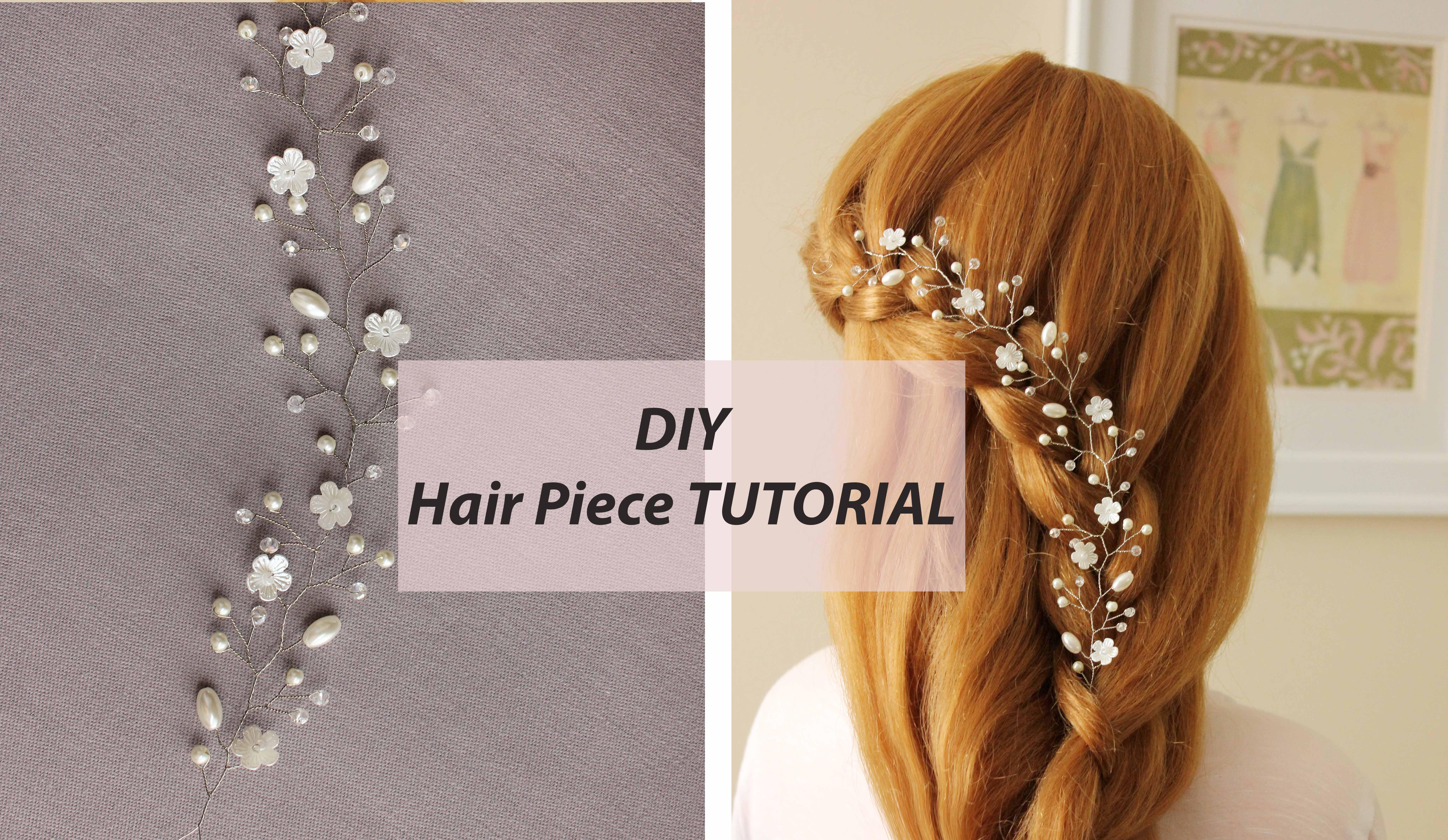 easy tutorial hair vine bridal hair comb - annlace