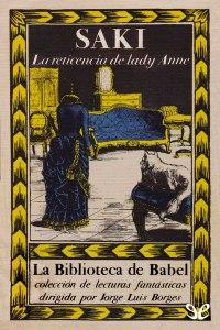 Cover of La reticencia de Lady Anne