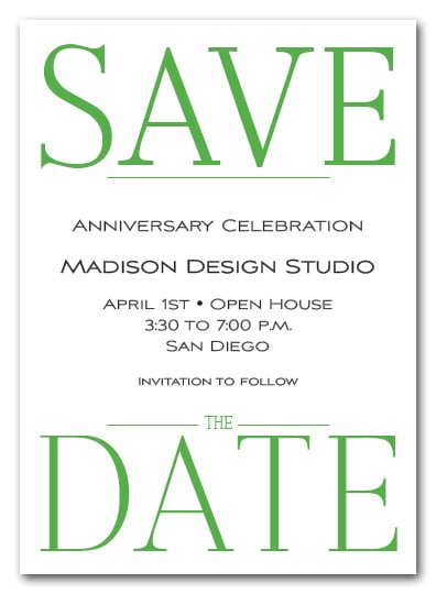 Bold Green Business Save The Date Cards Corporate Save