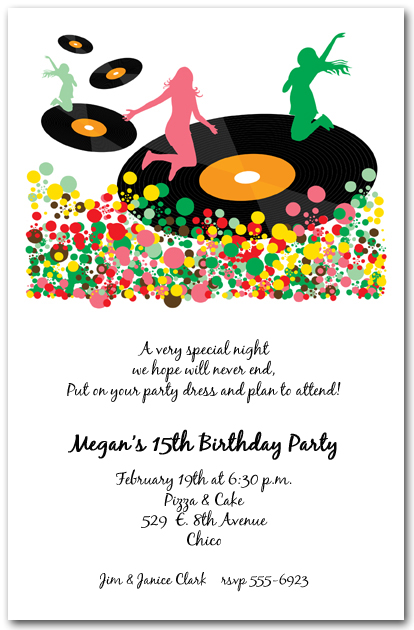 Spin The Vinyl Records Party Invitations