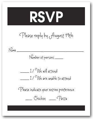 Wedding Invitations Response Cards Wording