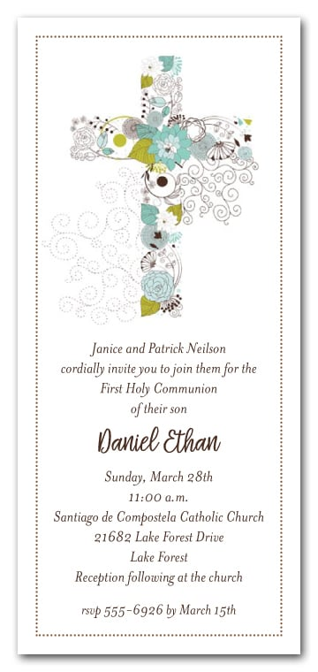 Baptism Cross Invitations