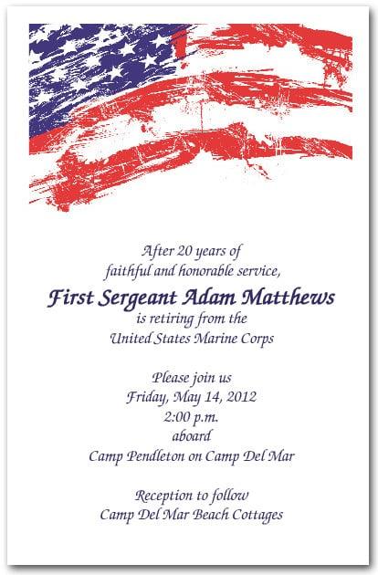 Grunge Patriotic Usa Flag Invitations