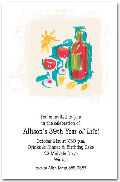 Summer Wine Party Invitations Wine Tasting Invitations