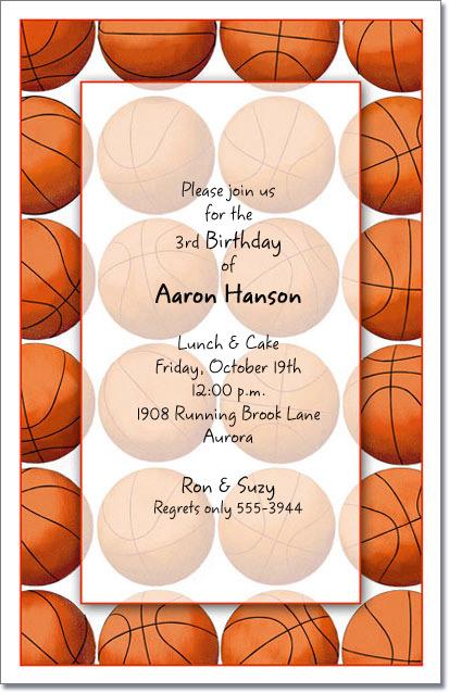 Basketball Party Invitations Basketball Invitation