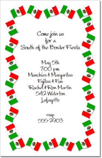 Cinco De Mayo Invitation Mexican Fiesta Party Invitation At