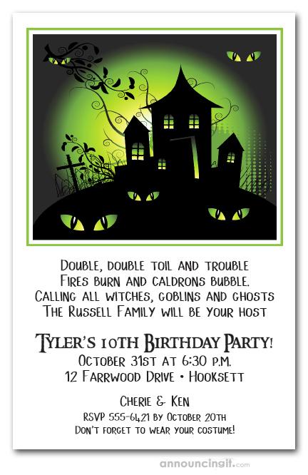 Home Birthday Invitations