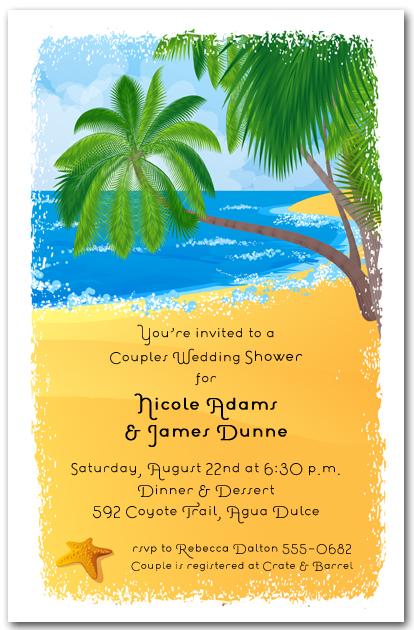 Palms On The Shore Tropical Invitations Beach Invitations
