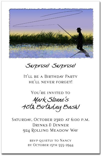 Fly Fishing Invitations Fishing Theme Birthday Party