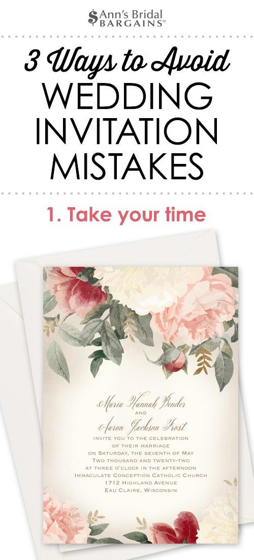 3 Ways To Avoid Wedding Invitation Mistakes