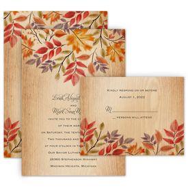 Fall Wedding Invitations Ann S Bridal