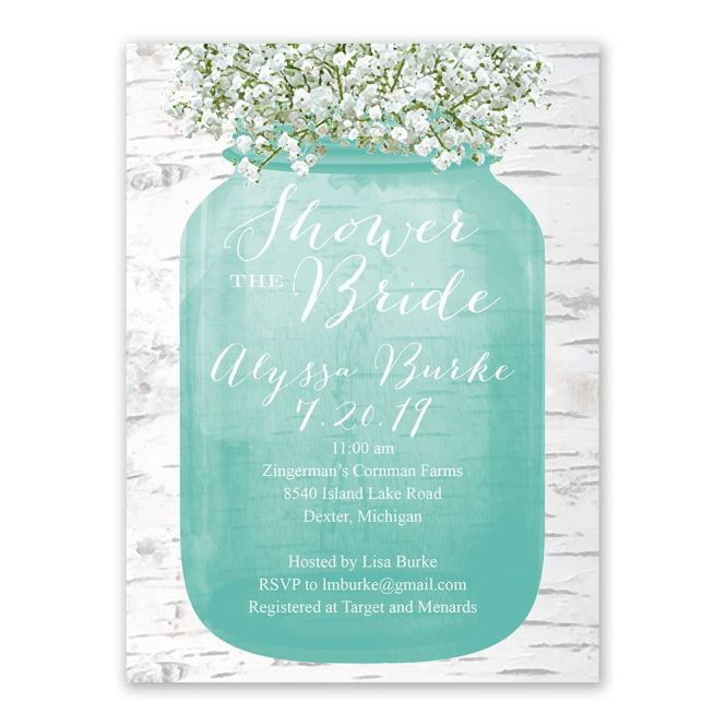 Babys Breath Bridal Shower Invitation