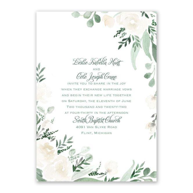 Painted Garden Wedding Invitation Ann