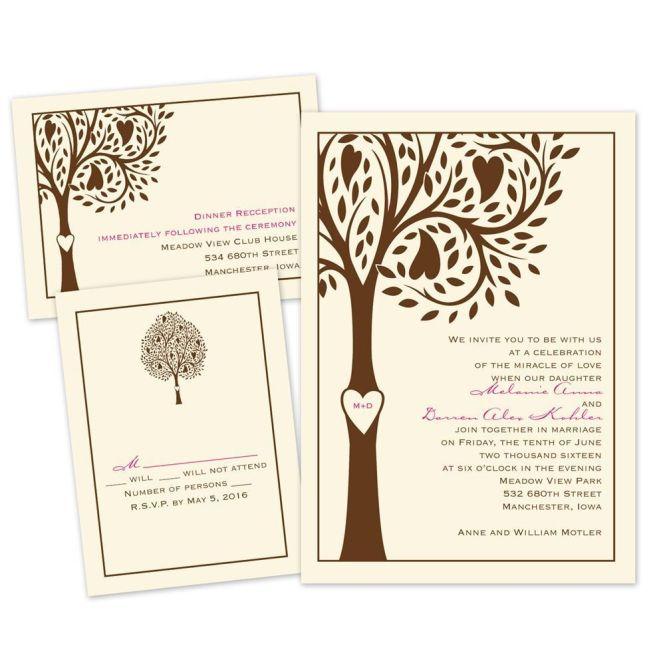 Tree Love Separate And Send Invitation