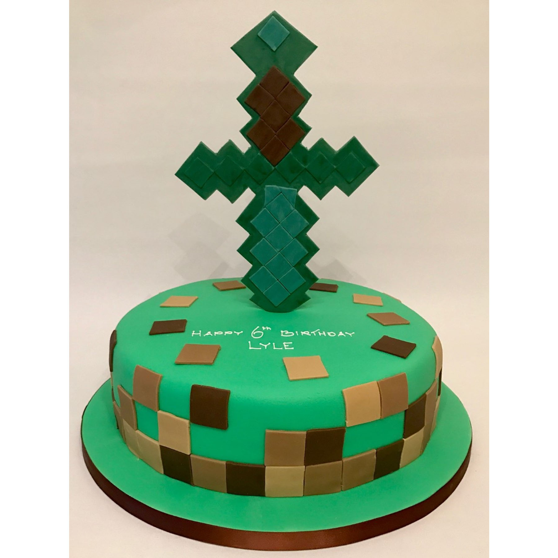 Enjoyable Minecraft Birthday Cake Anns Designer Cakes Funny Birthday Cards Online Fluifree Goldxyz
