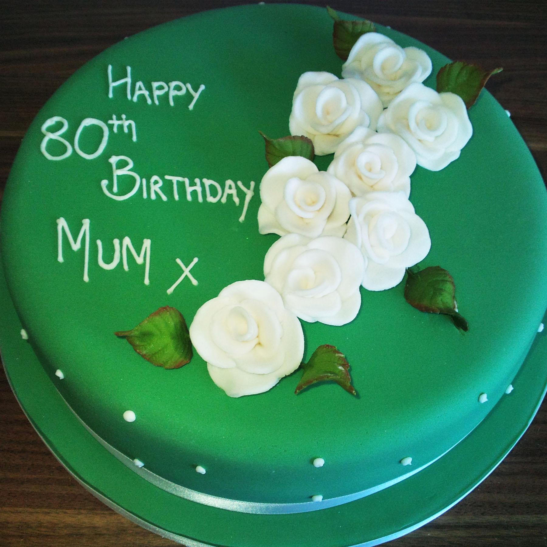80th Birthday Cake Anns Designer Cakes