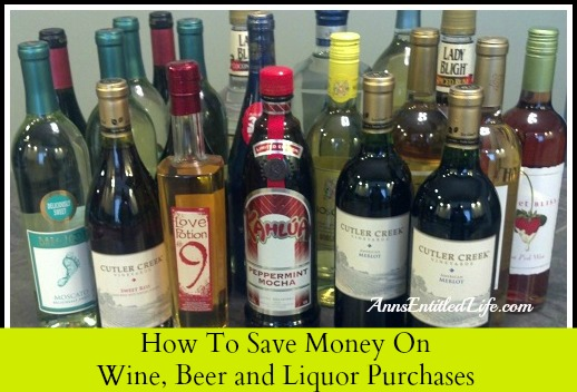 How To Save Money On Wine, Beer and Liquor Purchases