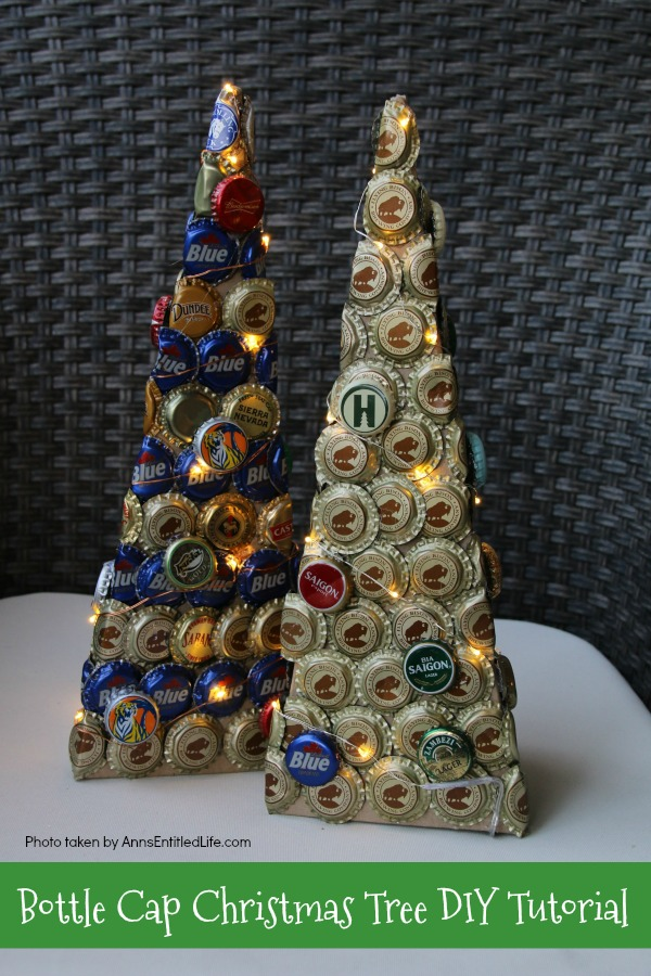 Beer cap christmas decorations for How to make a beer bottle christmas tree