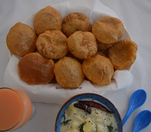 Mini Masala Poori / Butter Poori