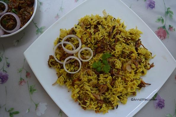 Mutton Kheema Biryani / Lamb Mince Meat Biryani