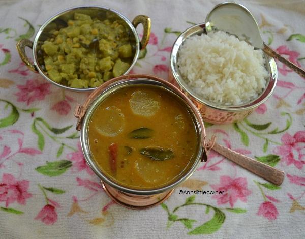 Radish Sambar | Mullangi Sambar