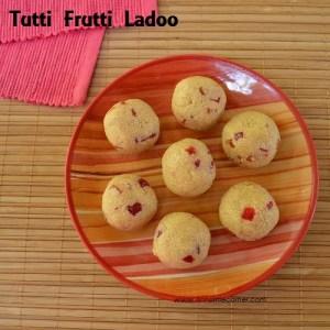 Rava Ladoo - with Condensed Milk | Tutti Frutti Ladoo
