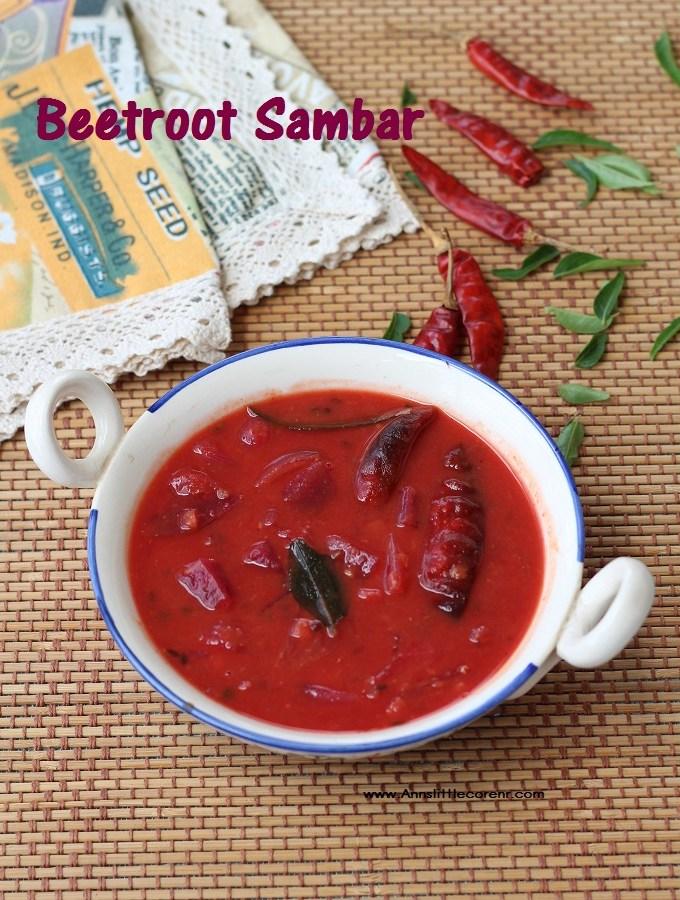 Beetroot Sambar / Cukandar Sambar