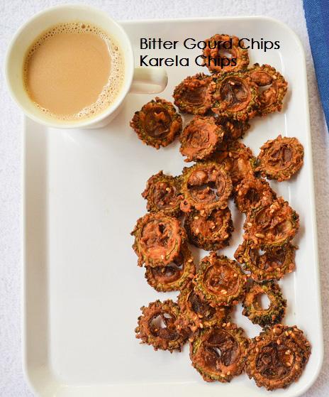 Crispy Karela Chips / Bitter Gourd Chips