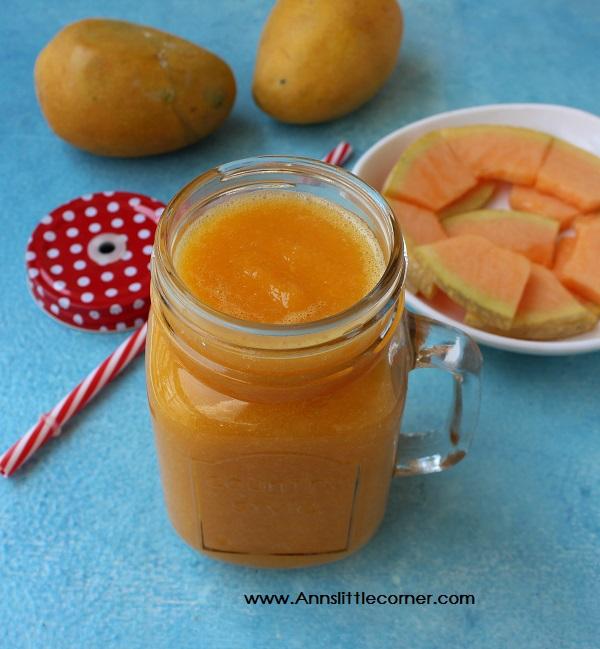 Cantaloupe Mango Smoothie / Musk Melon Mango Smoothie