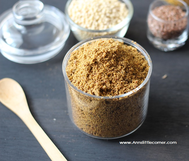 Flax Seed Chutney Powder / Spice Mix