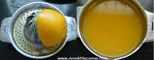 Orange Pomegranate Juice step 1