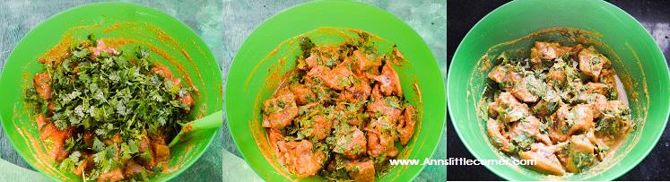 Coriander Chicken Fry step 4