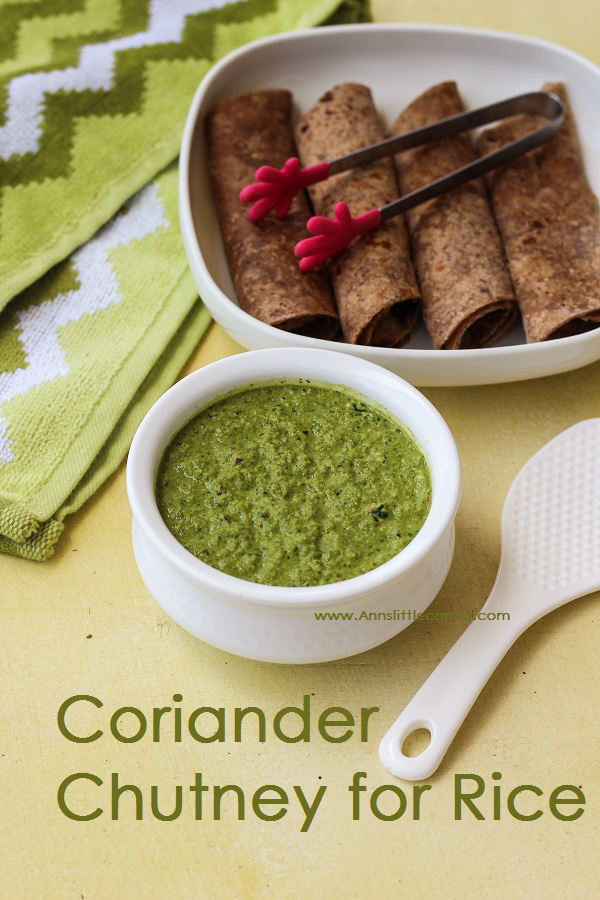 Coriander Chutney for Rice / Roti