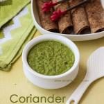 Coriander Chutney for Rice
