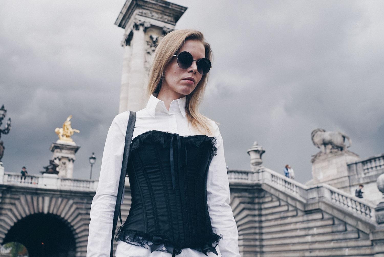 ootd corset bustier