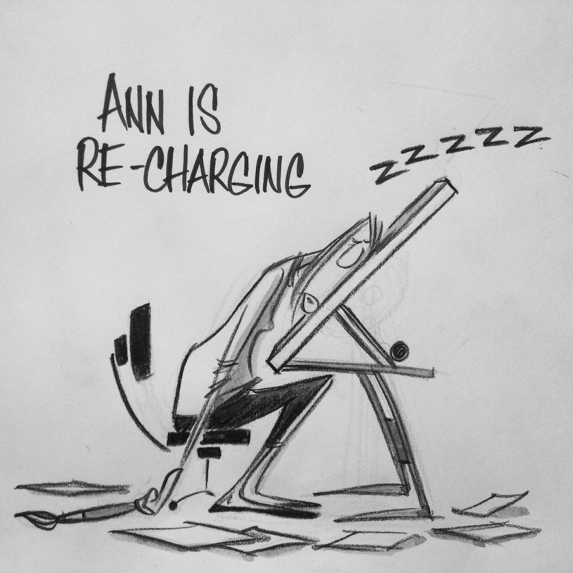 Ann is re-charging