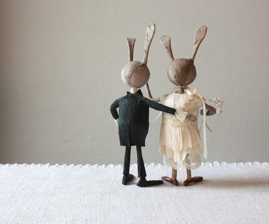 forest folk cake topper