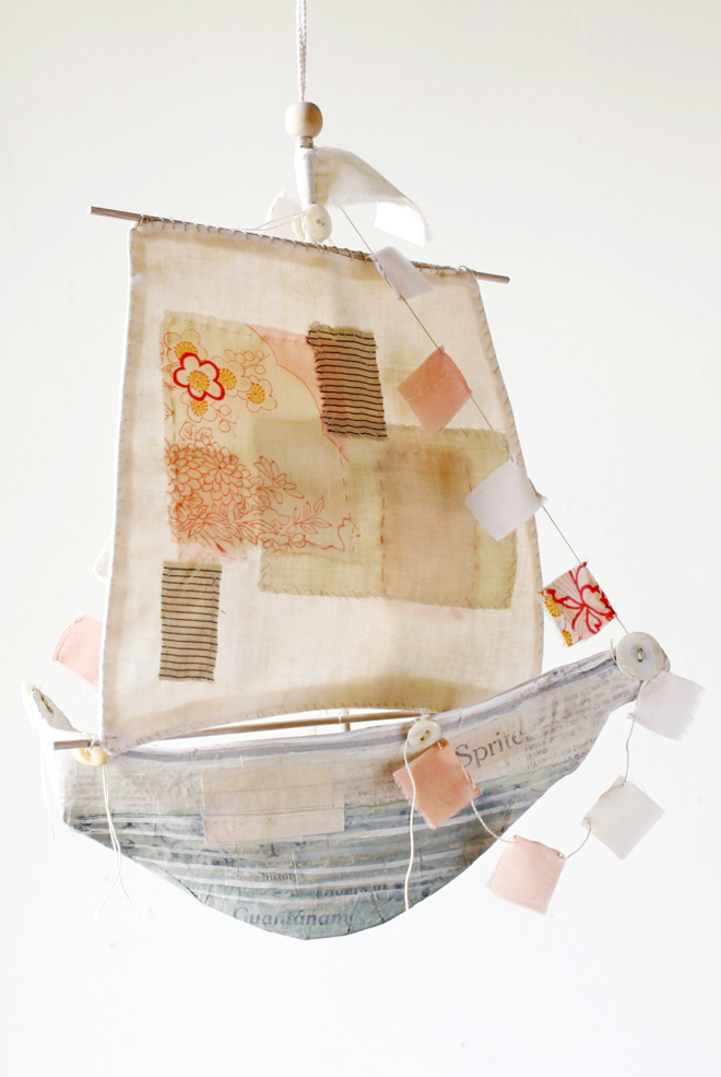 paper mache ship pattern