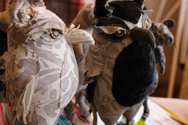 soft sculpture owls