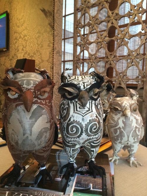 soft sculpture owls