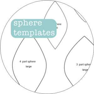 how to sew a sphere