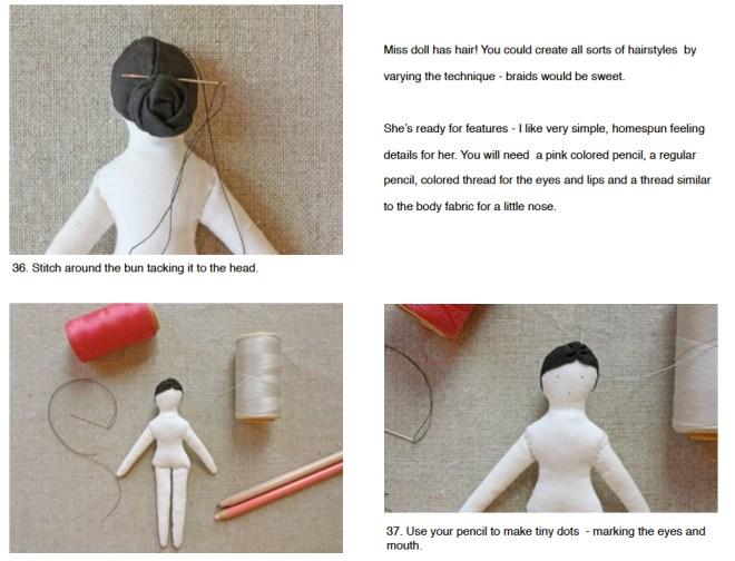 hair- tiny doll pattern