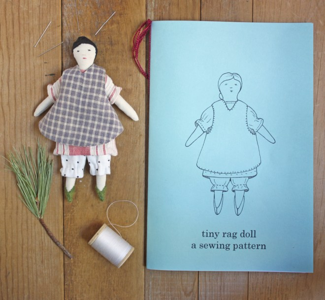 tiny rag doll print pattern