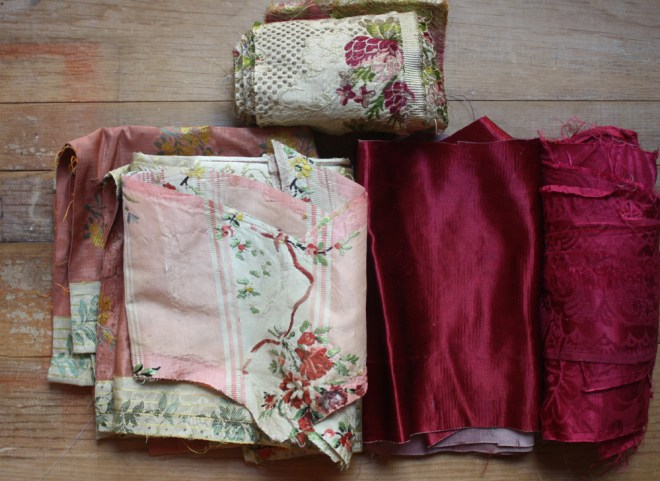 crimson antique textiles