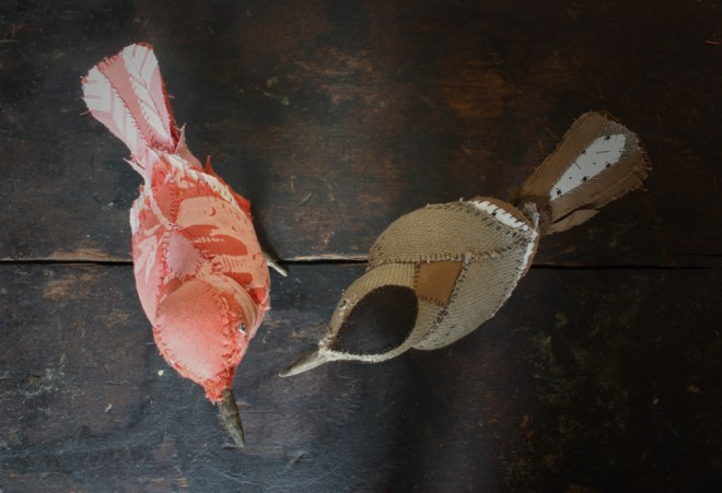 hand stitched songbirds