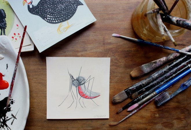 mosquito painting