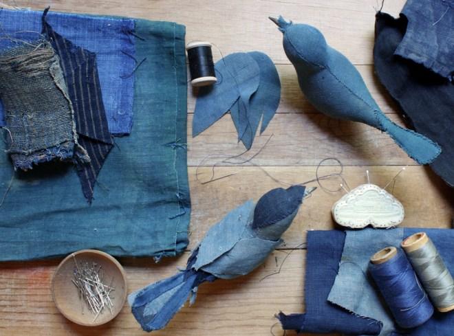 stitched sri songbirds